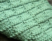 KNITTING PATTERN-Hidden Squares, Dishcloth Pattern