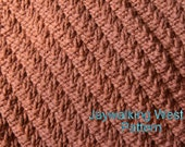 KNITTING PATTERN-Jaywalking West, Dishcloth Pattern