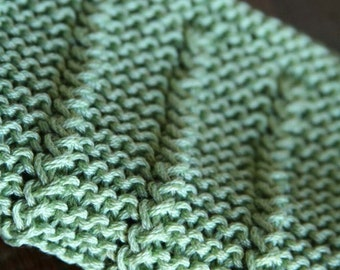 KNITTING PATTERN-Cork Screw, Dishcloth Pattern