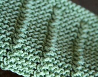 KNITTING PATTERN-Cork Screw, Dishcloth Pattern