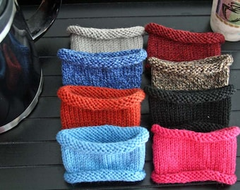 KNITTING PATTERN-Deb's Knitted Cup Sleeve, Cozy Pattern
