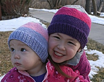 Knit Hat Pattern, Knitting Pattern, Beanie Pattern, Child Hat Pattern