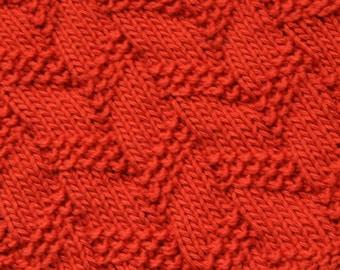 KNITTING PATTERN-Playing with Rope, Dishcloth Pattern