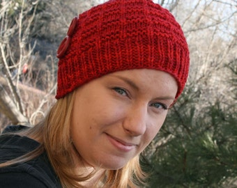 Knitted Hat Pattern, Beanie Hat, Jennifer Hat, Hat Pattern, Knitting Pattern
