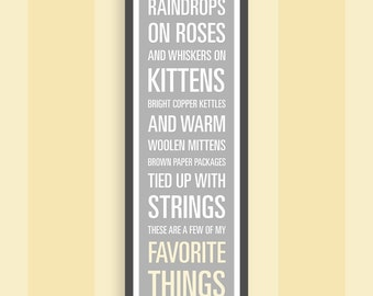 "The Sound of Music ""My Favorite Things"" Print - 11.75x36 inches"