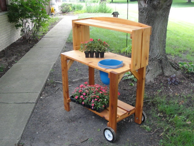 Western Red Cedar Potting Bench By Aaronhooks On Etsy