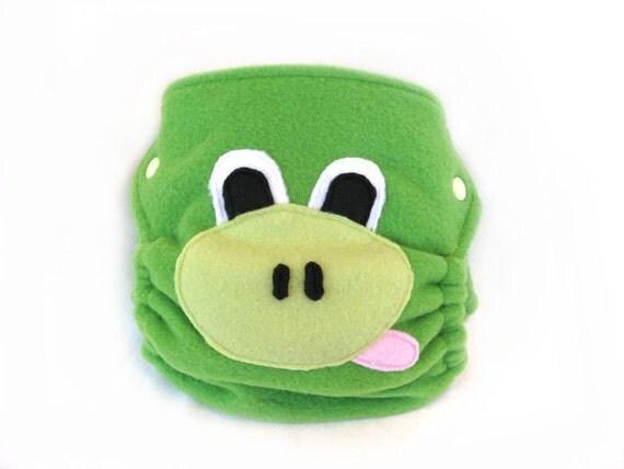 Diaper Cover, Frog, fleece, size M, animal