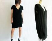 Black Oversized t-shirt dress - Eco / Bamboo Organic cotton jersey - Forenza