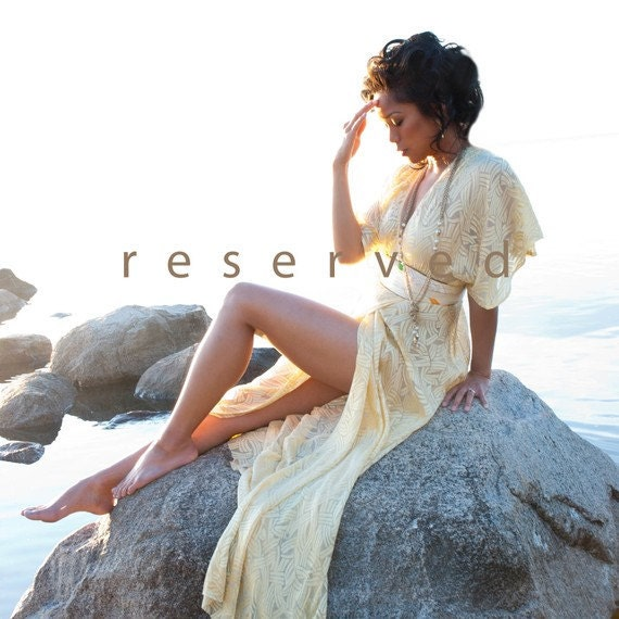 RESERVED for Becky - Bohemian silk wrap dress - Made to order / Alchemy