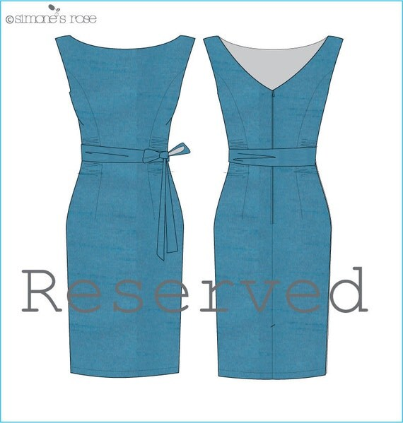 RESERVED for Melissa - Made to order dress / Alchemy