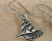 Vintage boat earrings