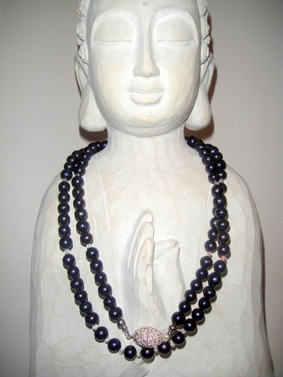 For the Love of Pearls (Black Pearl Necklace)