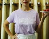 Love for Berries Tshirt - Lavender - S M L - Women's White Vinyl Image