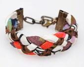 Rainbow Bright Braided Cuff Bracelet