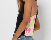 Racerback Mini Tank with in Black, Yellow and Hot Pink