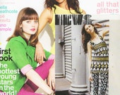 Featured in NYLON May 2012 magazine Hand Printed Leggings in Black and White 'Face' Print