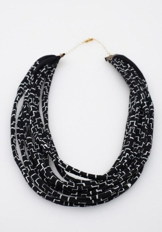 Night Cross Fabric Necklace
