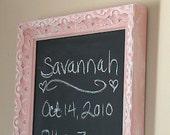 Pink Shabby Chic Chalkboard Memoboard Baby Nursery Girls Room