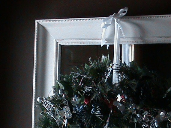 15% OFF Vintage Shabby Chic Mirror or Chalkboard Ornate Wedding Holidays Dentil Detail