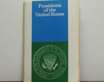 Presidents of the United States 1971 Booklet, blue, green, white, American leaders, united states political office, commander in chief