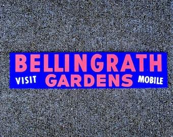 Bellingrath Gardens Alabama vintage bumper sticker deep purple blue