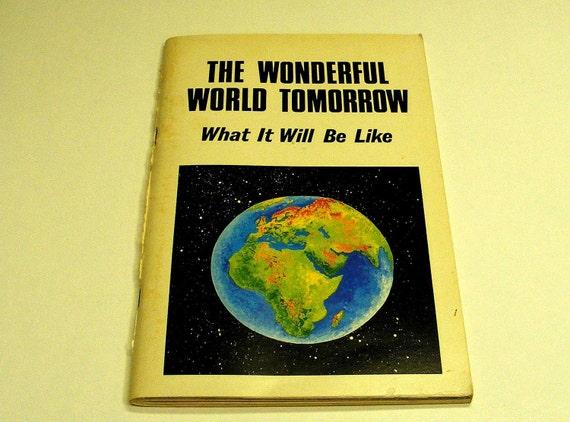 vintage 1966 the wonderful world tomorrow booklet