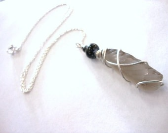 Grey Sea Glass Necklace - Little slice from the sea - Beach Candies by Jessentials