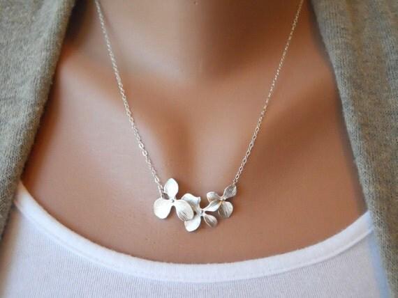 Triple Orchid Necklace