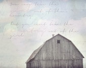 Vintage pink country girl barn - 8x10 Fine art photography print - AmyPryceArtwork