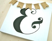 Ampersand Painting with Burlap Bunting