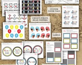 Pirate Birthday Party Decor — DIY Printable Birthday Party Decorations