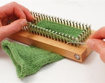 KB Sock Loom Adjustable Wood Knitting Board Kit w/ DVD Fine Gauge