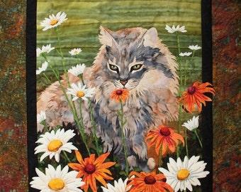 Flo Toni Whitney Cat Flowers Applique Quilt Pattern Quilting