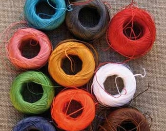 Sajou France Fil Au Chinois 12 Waxed Linen Sewing Thread Capsules Bright Colors