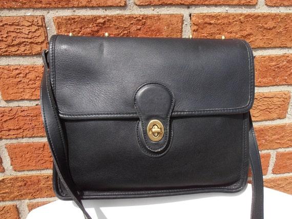 COACH Black WILLIS mini briefcase LEATHER Bag Crossbody handbag purse 9927