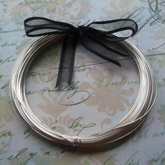 Sterling Silver Wire 24 ga half hard 5ft