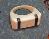 Ivory and Ebony Ring