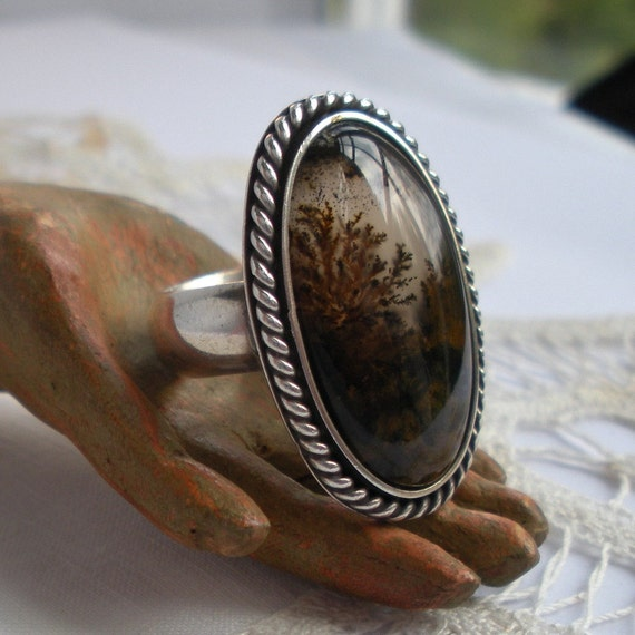 Scenic Agate Ring