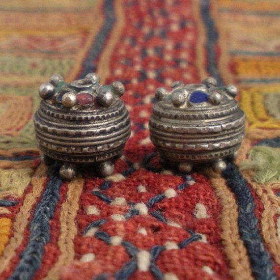 Ethnic Morocco Metal beads with Enamel