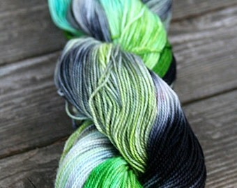 Hand Dyed Sock Yarn- Kettle Dyed - 100g