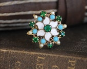 Turquoise Flower Vintage Ring