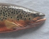 Brown Trout Large Ceramic Wallhanging