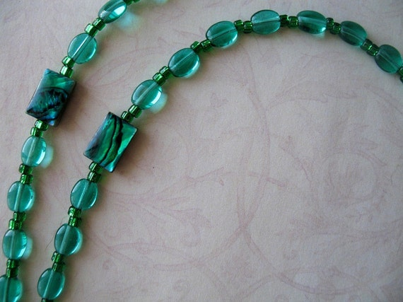 May Birthstone - Rosary of Emerald Green Glass