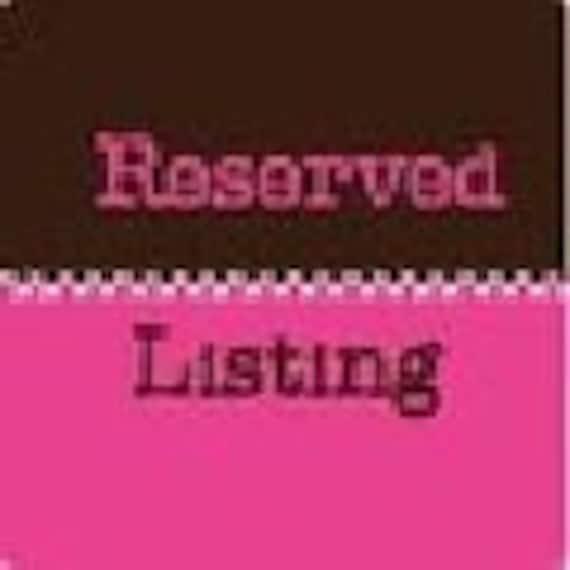 REGINA CHEN-Reserved Listing
