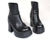 90s Chunky Sci Fi Club Kid Ankle Boots (7)