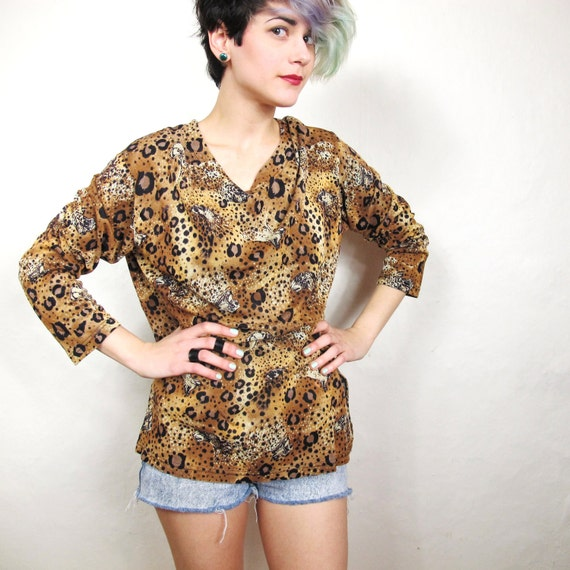 S A L E 90s Hidden Leopards Print Tunic (M/L)