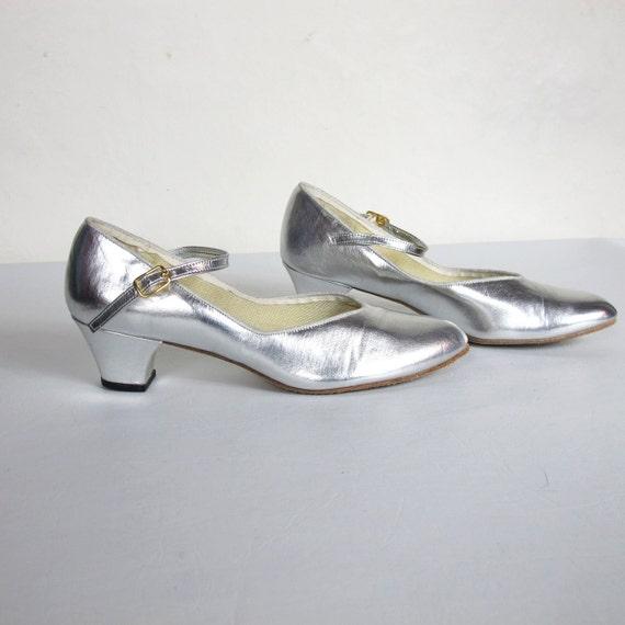 60s Barbettes Dancewear Silver Mary Janes (6.5)