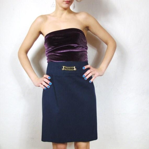 S A L E 90s Clueless School Girl Chain Mini Skirt (S/M)