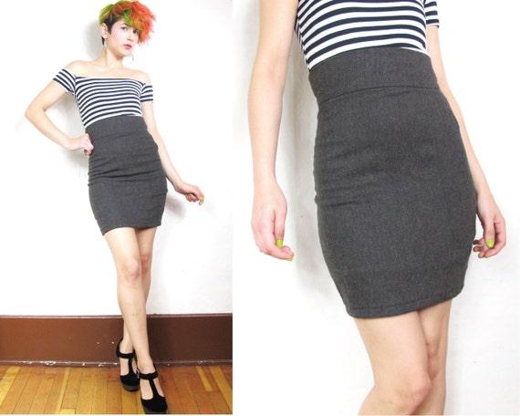 S A L E Handmade Bodycon Wool Herringbone Skirt (Xs)