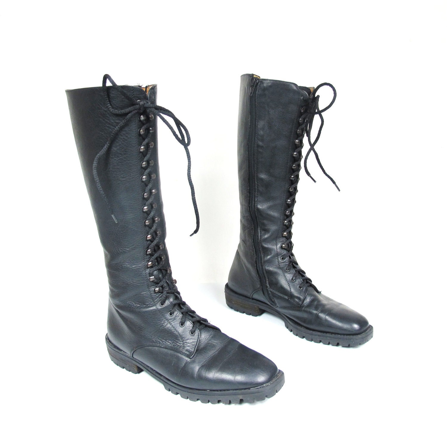 90s Grunge Punk Lace up Combat Boots 7.5 by honeymoonmuse ...
